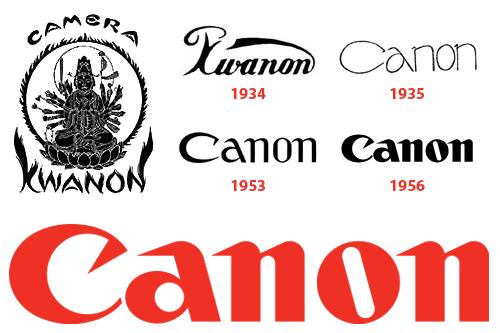 Canon Logosu'nun Evrimi